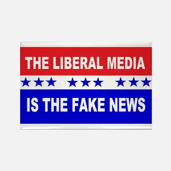 Liberal Fake News Rectangle Magnet
