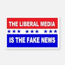 Liberal Fake News Rectangle Car Magnet