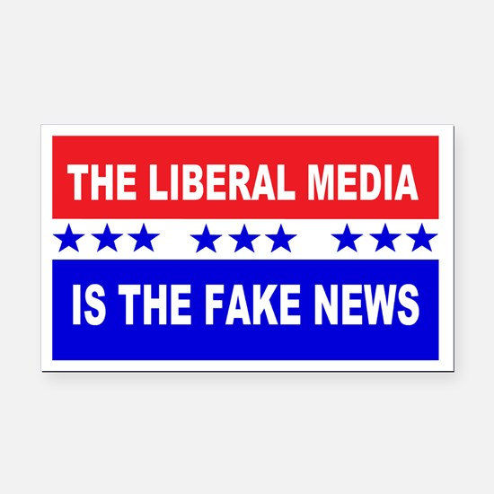 Liberal Fake News Rectangle Car Magnet