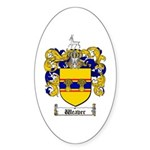 Weaver Coat of Arms Oval Sticker