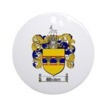 Weaver Coat of Arms Ornament (Round)