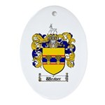 Weaver Coat of Arms Oval Ornament