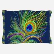 PAINTED PEACOCK FEAHER SC1 Pillow Case