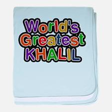 Worlds Greatest Khalil baby blanket