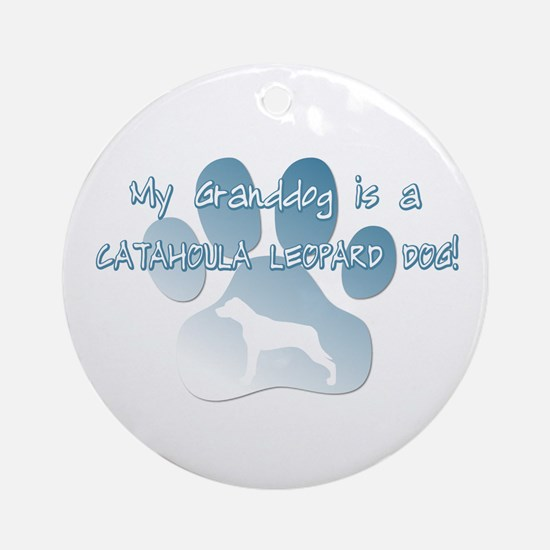 Catahoula Granddog Ornament (Round)