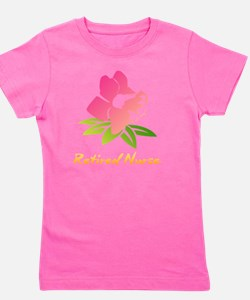 Cute Retired nurse Girl's Tee
