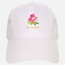 Retired Nurse Flower Baseball Baseball Cap