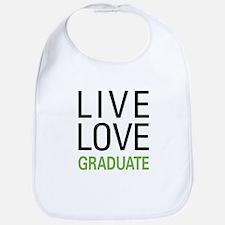 Live Love Graduate Bib