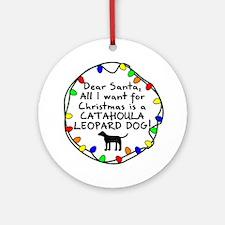 Dear Santa Catahoula Leopard Christmas Ornament