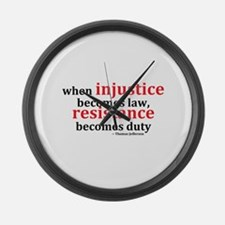 Injustice Resistance Large Wall Clock
