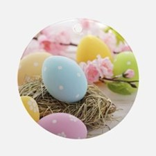 Easter Eggs Round Ornament