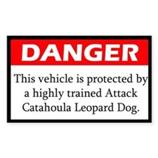 Attack Catahoula Leopard Dog Decal