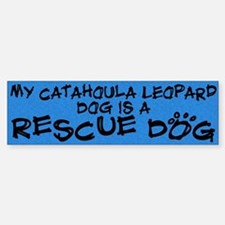Rescue Dog Catahoula Leopard Dog Bumper Bumper Bumper Sticker