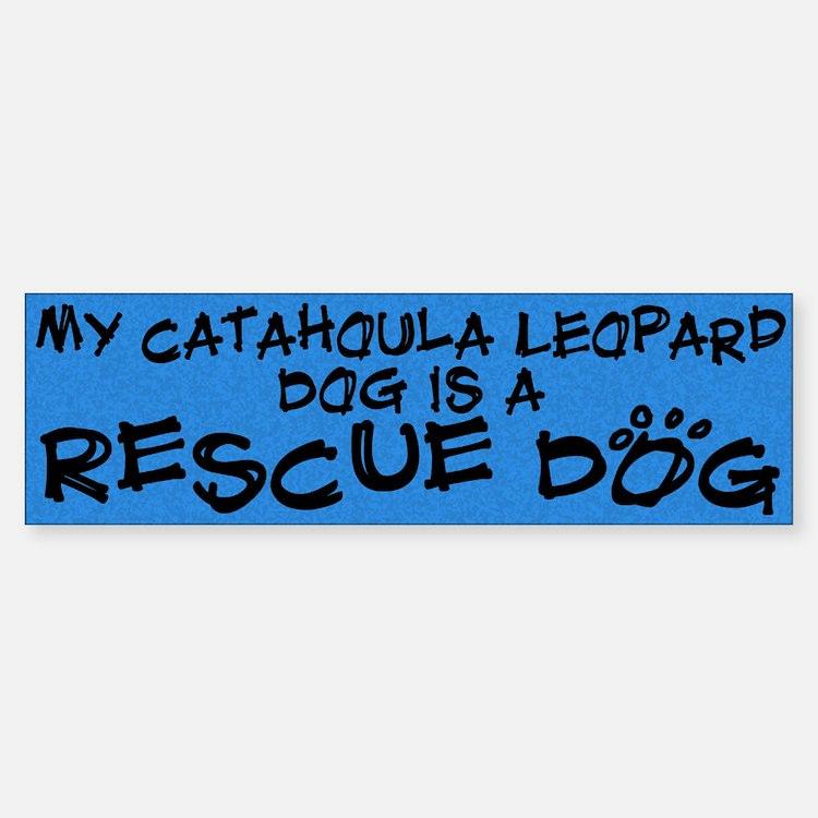 Rescue Dog Catahoula Leopard Dog Bumper Bumper Bumper Sticker