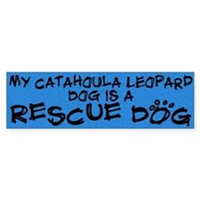Rescue Dog Catahoula Leopard Dog Bumper Car Sticker