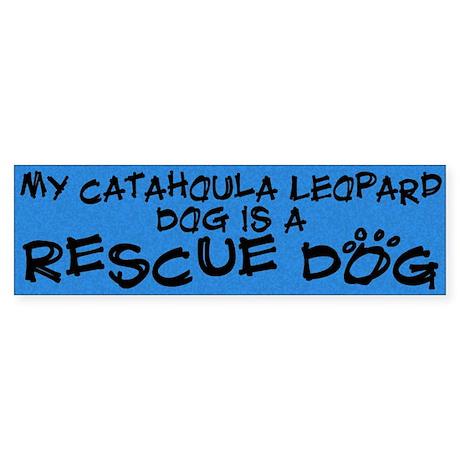 Rescue Dog Catahoula Leopard Dog Bumper Sticker