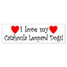 I Love My Catahoula Leopard Dogs Bumper Bumper Sticker