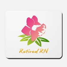 Retired RN Flower Mousepad