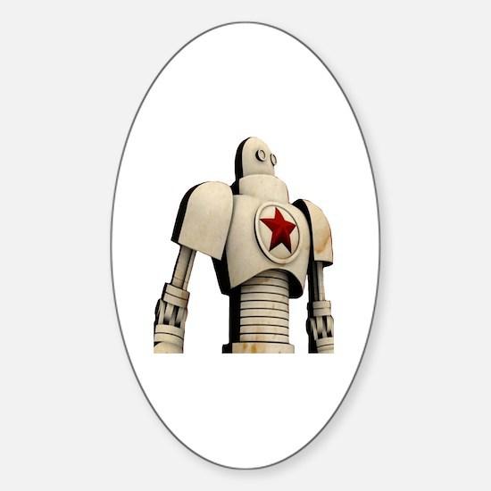 Funny Soviet propaganda Sticker (Oval)