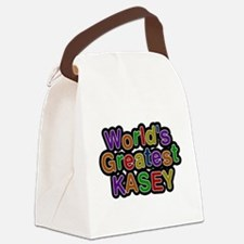 Worlds Greatest Kasey Canvas Lunch Bag
