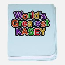 Worlds Greatest Kasey baby blanket