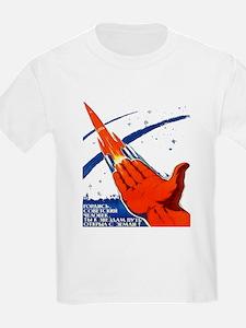 rocket soviet space propaganda T-Shirt