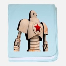 Robot soviet space propaganda baby blanket
