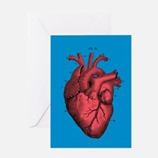 Vintage Anatomical Heart Greeting Cards