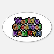 World's Greatest Kamryn Oval Decal