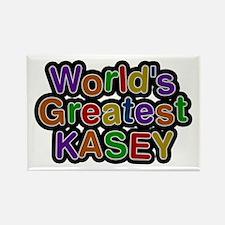 World's Greatest Kasey Rectangle Magnet