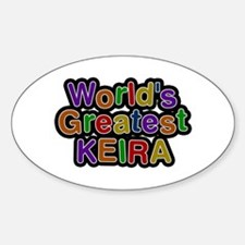 World's Greatest Keira Oval Decal