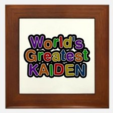 World's Greatest Kaiden Framed Tile