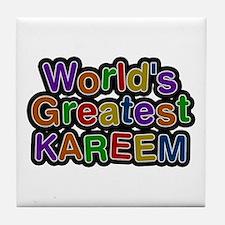 World's Greatest Kareem Tile Coaster