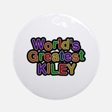World's Greatest Kiley Round Ornament