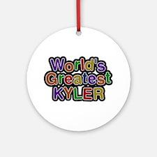 World's Greatest Kyler Round Ornament