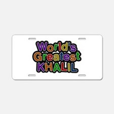World's Greatest Khalil Aluminum License Plate
