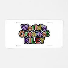 World's Greatest Kiley Aluminum License Plate