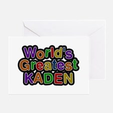 World's Greatest Kaden Greeting Card