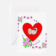 Pekingese Love Greeting Card