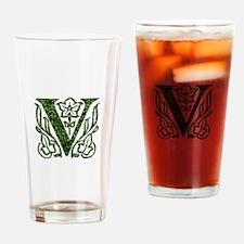 Ivy Monogram V - Drinking Glass