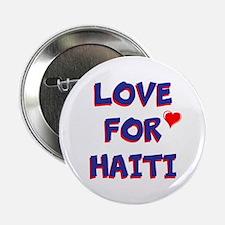 """Love For Haiti 2.25"""" Button"""