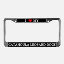 Love Catahoula Leopard Dogs License Plate Frame