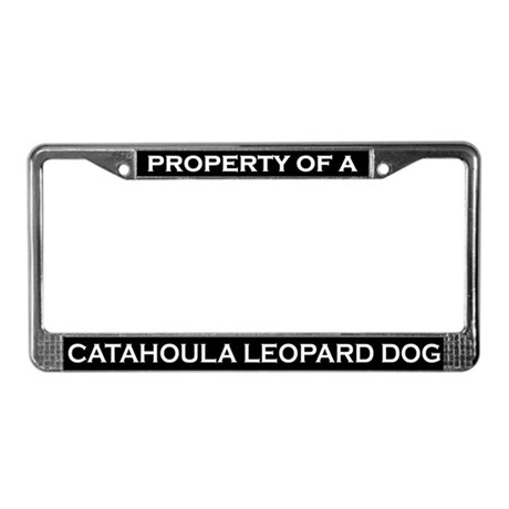 Property of Catahoula Leopard License Plate Frame