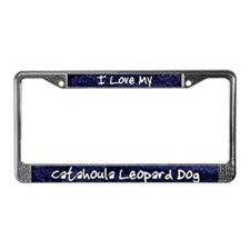 Funky Love Catahoula Leopard License Plate Frame