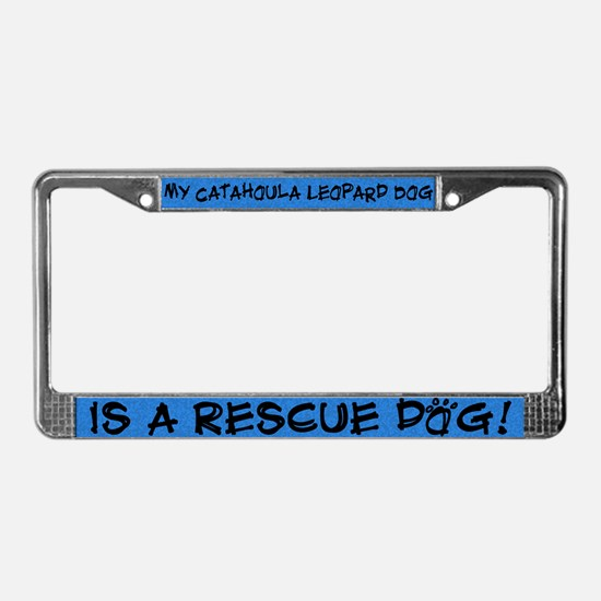 Rescue Dog Catahoula Leopard License Plate Frame