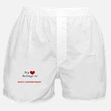 My heart belongs to Adult Contemporar Boxer Shorts