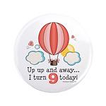 Ninth 9th Birthday Hot Air Balloon 3.5