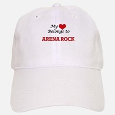 My heart belongs to Arena Rock Baseball Baseball Cap