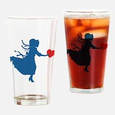 Laura Ingalls Valentine Drinking Glass
