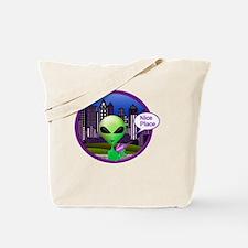 Cool Alien invasion Tote Bag